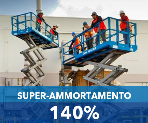 super ammortamento piattaforme aeree